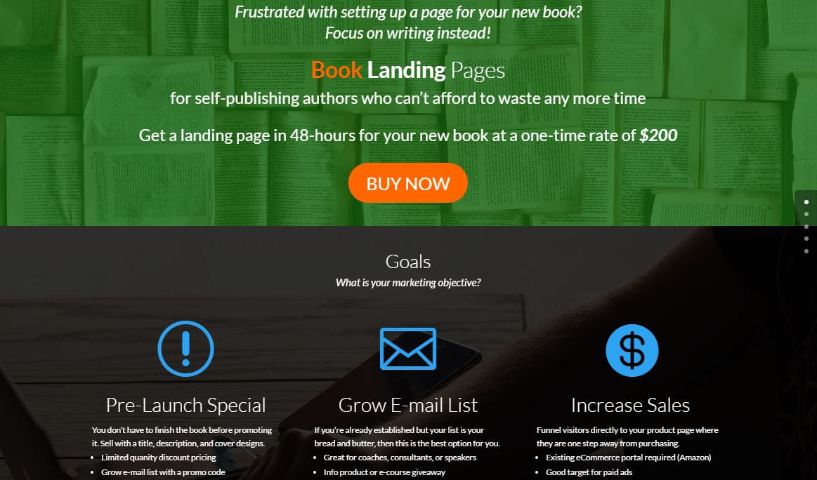 Book Landing Pages